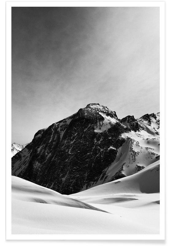 Noir & blanc, Montagnes, Mountains III affiche