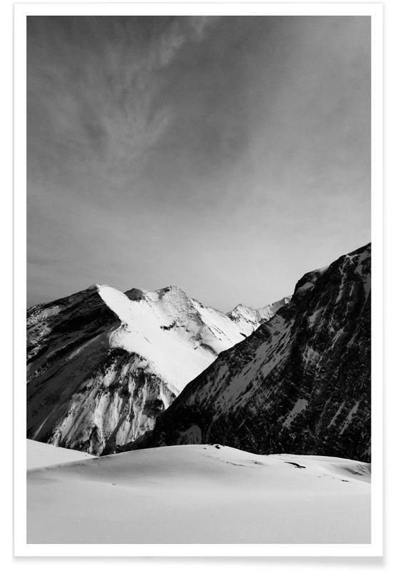 Noir & blanc, Montagnes, Mountains IV affiche
