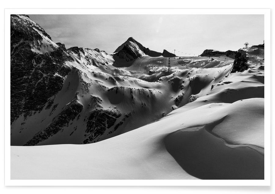 Noir & blanc, Montagnes, Mountains V affiche