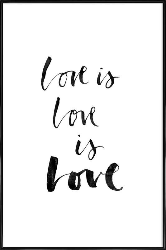 Love White -Bild mit Kunststoffrahmen