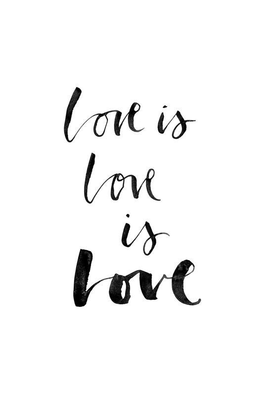 Love White -Acrylglasbild