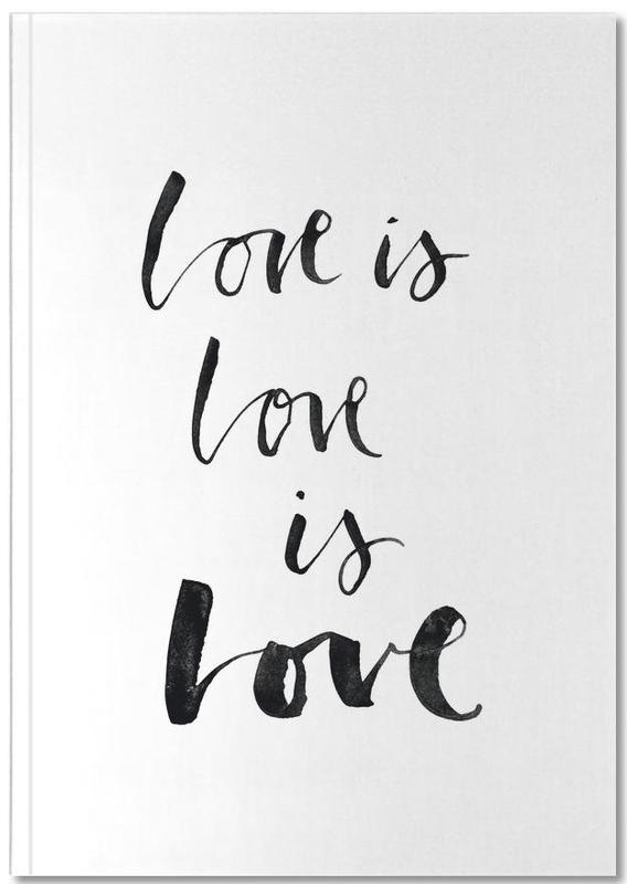 Love White Notebook