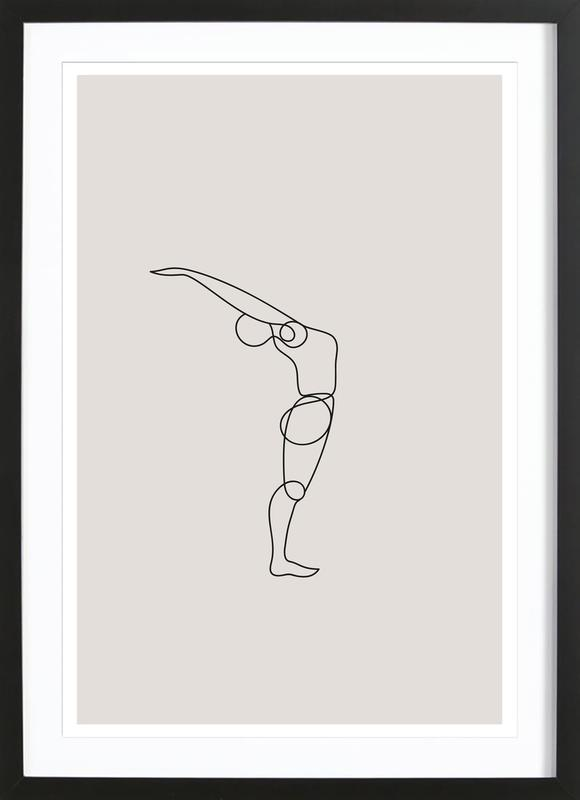 Standing Backbend Framed Print
