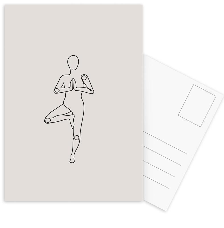 Yoga, Tree cartes postales