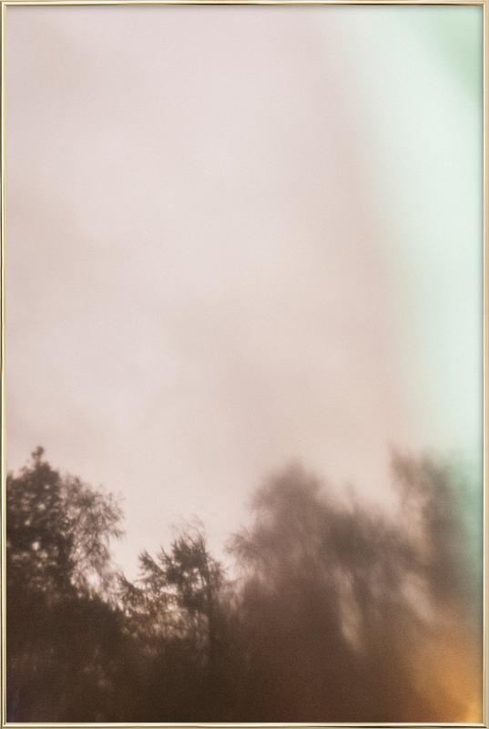 Outside My Window -Poster im Alurahmen