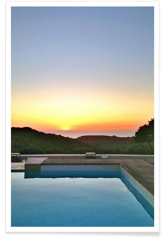 Sunsets, Travel, La Pool Poster