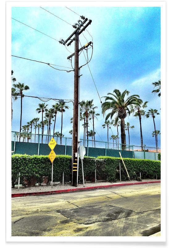 Architectural Details, Los Angeles, Palms, LA Jolla Shores Poster