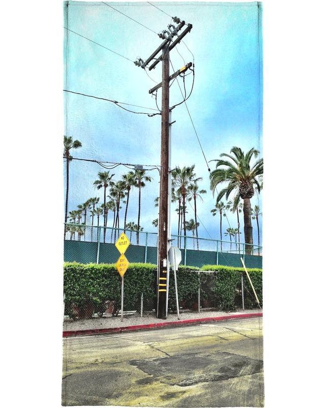 Détails architecturaux, Los Angeles, Palmiers, LA Jolla Shores serviette de plage