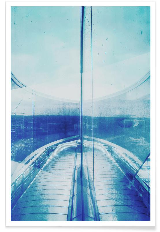 Architectural Details, Abstract Landscapes, Dreamy, Reflection Blue Poster