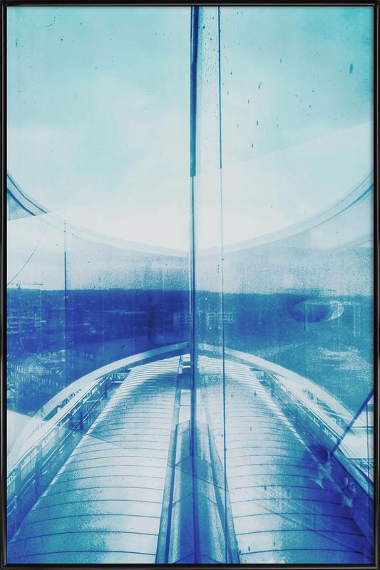 Reflection Blue Framed Poster