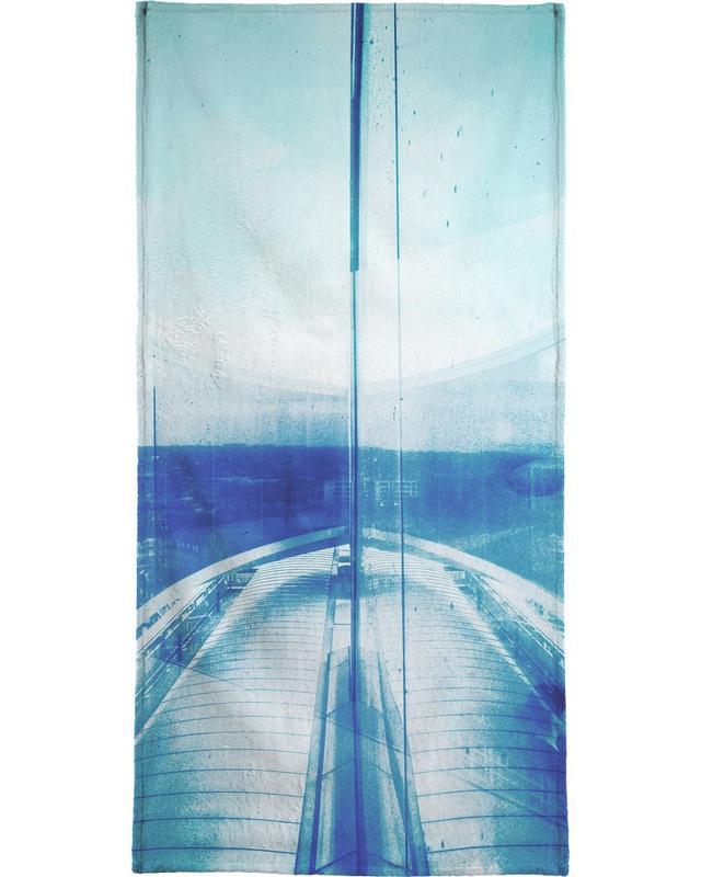 Détails architecturaux, Paysages abstraits, Rêve, Reflection Blue serviette de plage