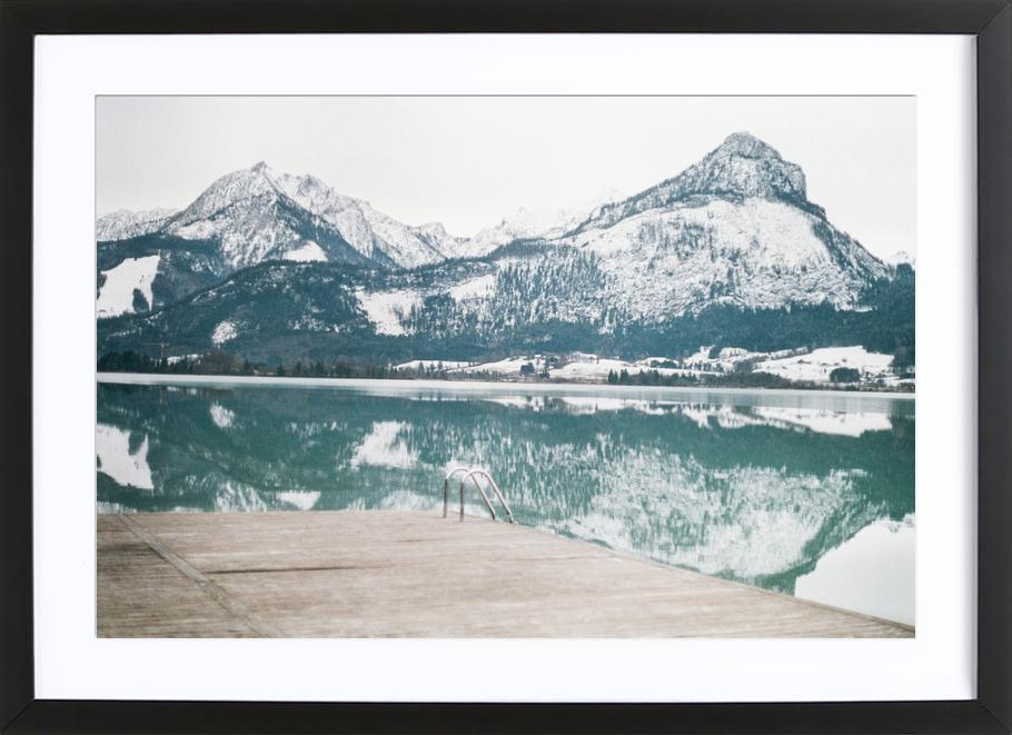 Austria -Bild mit Holzrahmen