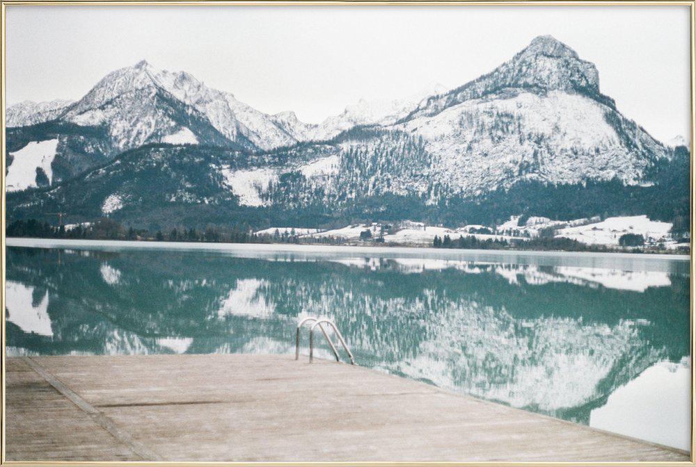 Austria poster in aluminium lijst