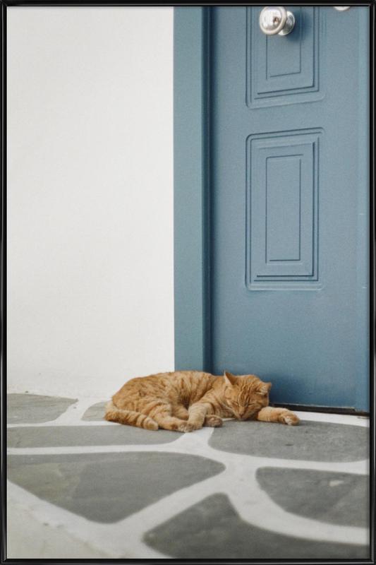 Greece -Bild mit Kunststoffrahmen