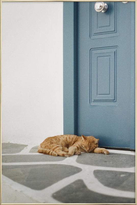 Greece -Poster im Alurahmen