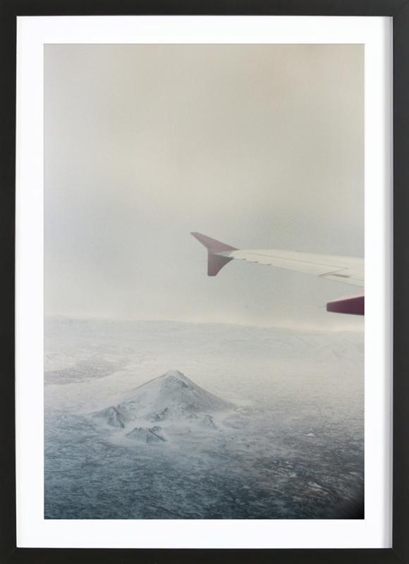 Iceland -Bild mit Holzrahmen
