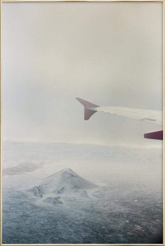Iceland Poster in Aluminium Frame