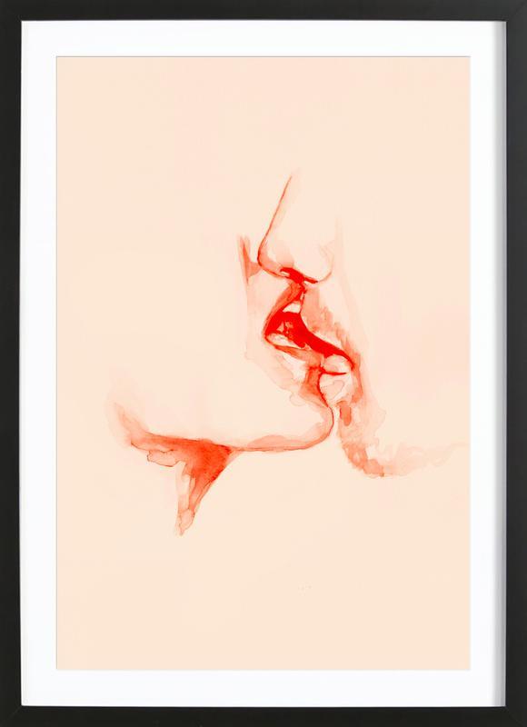 Desire -Bild mit Holzrahmen