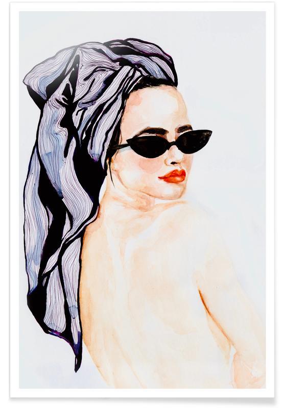 Portraits, Illustrations de mode, Holiday affiche