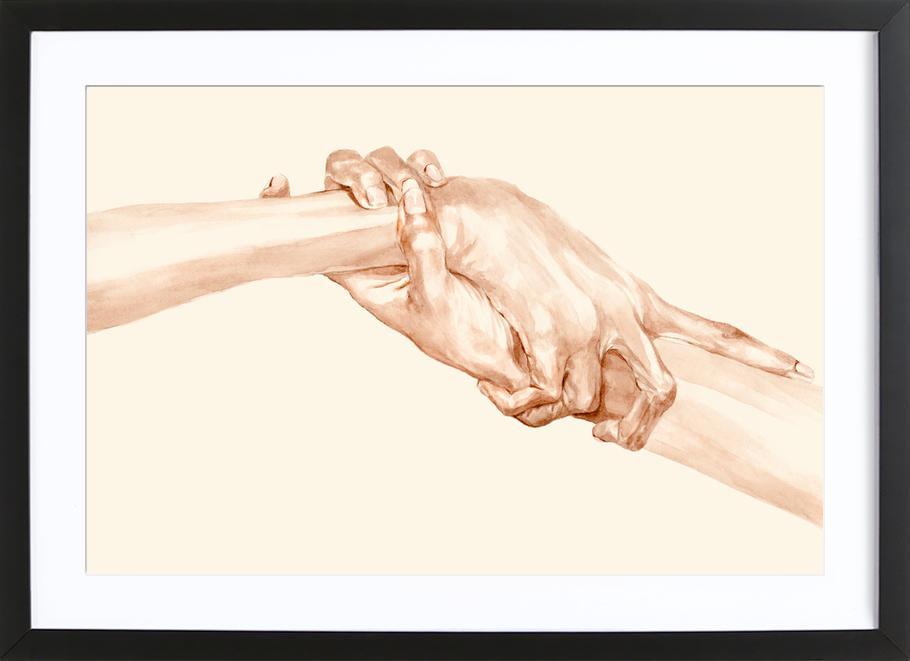 Self-Love -Bild mit Holzrahmen