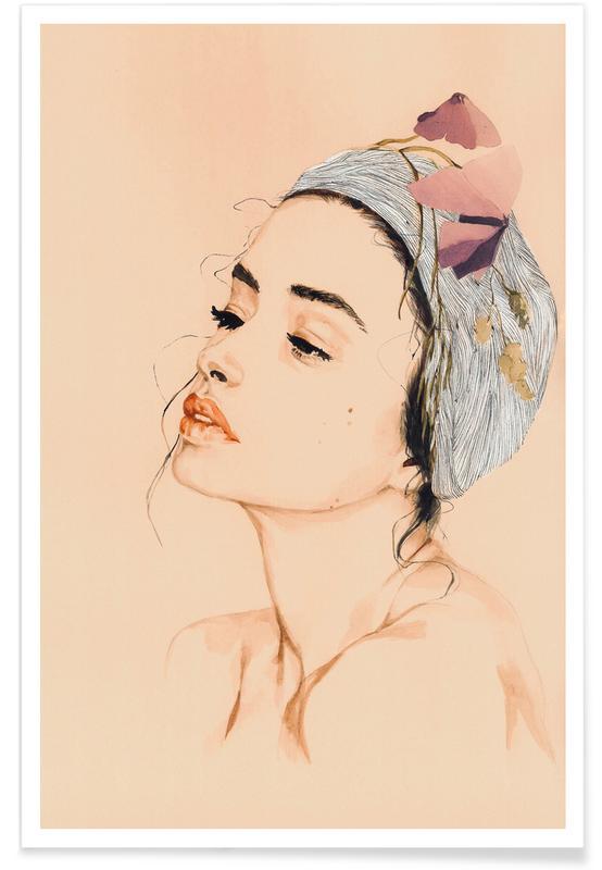 Portraits, Illustrations de mode, Tender affiche