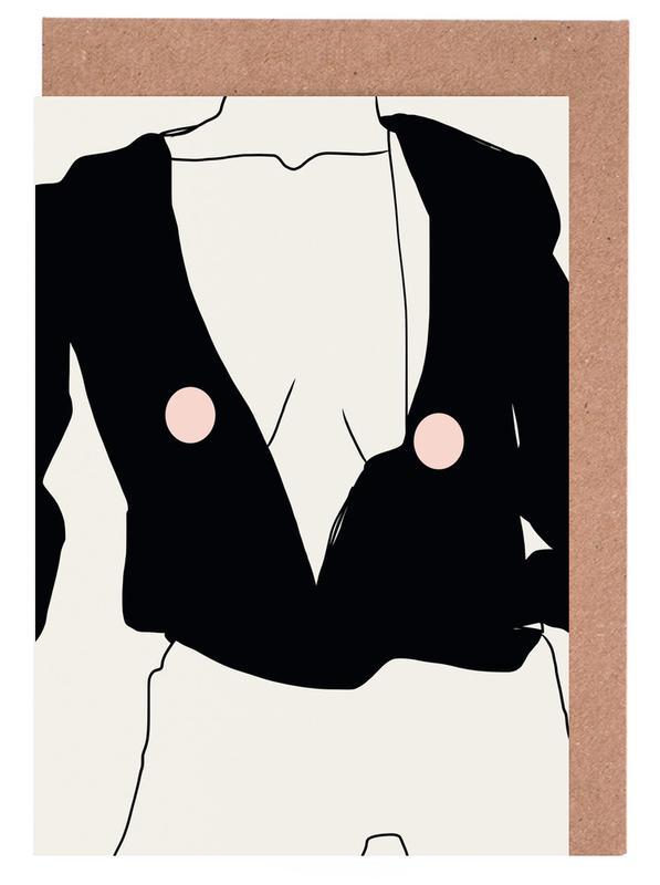 Fashion Illustrations, Night Greeting Card Set