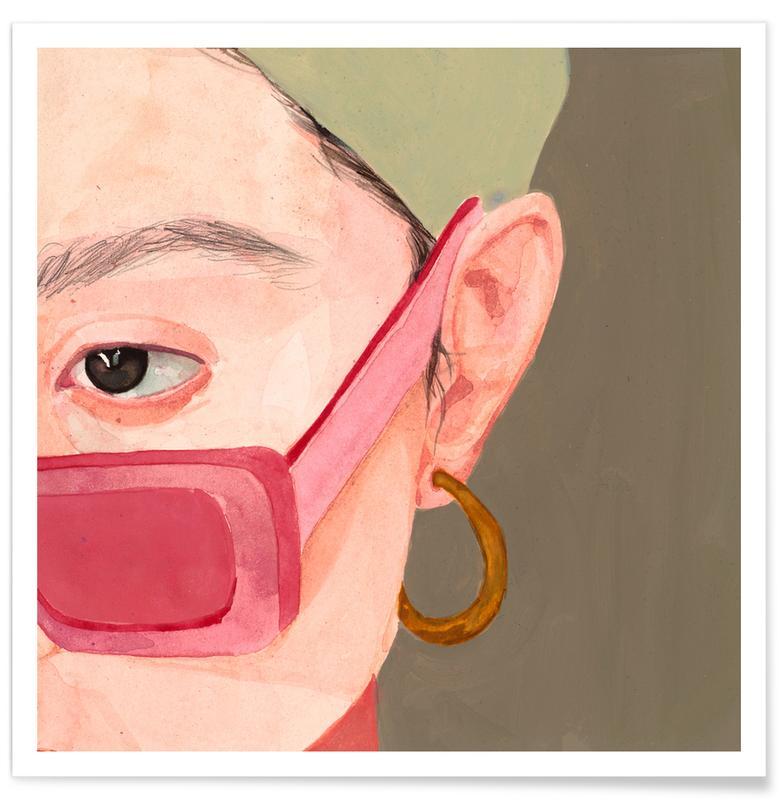 Modeillustration, Körperformen, Pink -Poster
