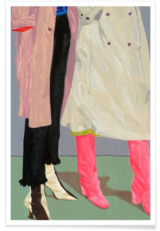 Modeillustration, Siblings -Poster