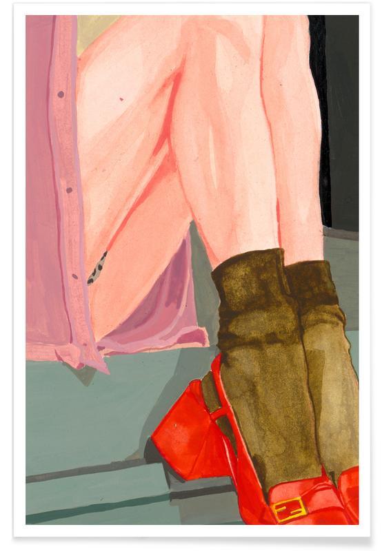 Illustrations de mode, The Waiting Girl affiche