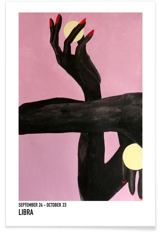 Portraits, Détails corporels, Libra affiche