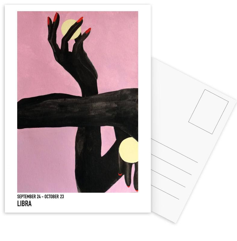 Porträts, Körperformen, Libra -Postkartenset