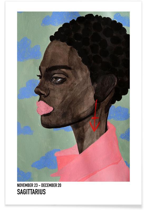 Portretten, Saggitarius poster