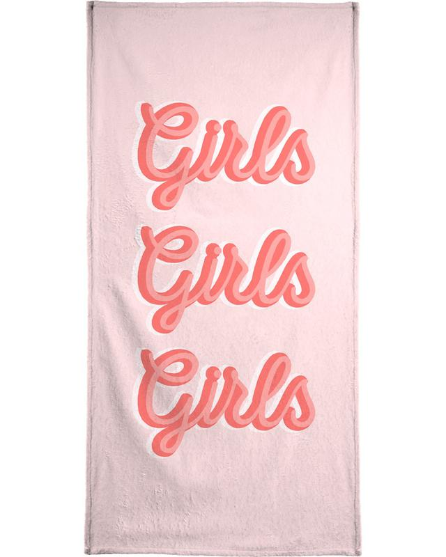 Quotes & Slogans, Girls Girls Girls Beach Towel