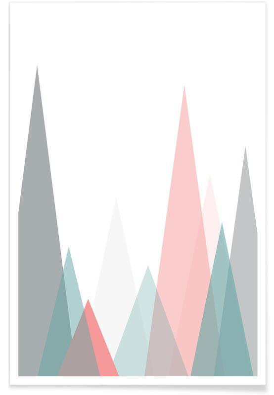 , Pastel Mountains -Poster