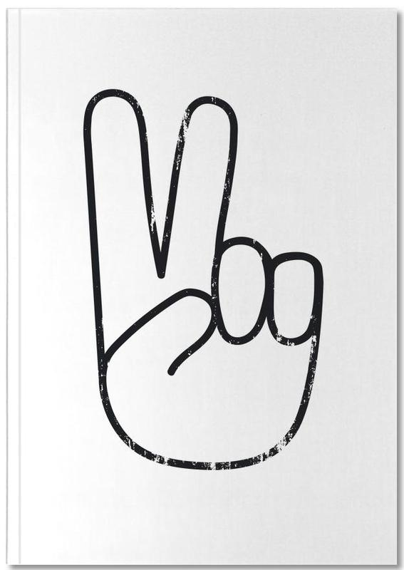 Excuses, Noir & blanc, Peace Sign Notebook