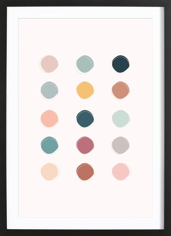 Colour Palette -Bild mit Holzrahmen
