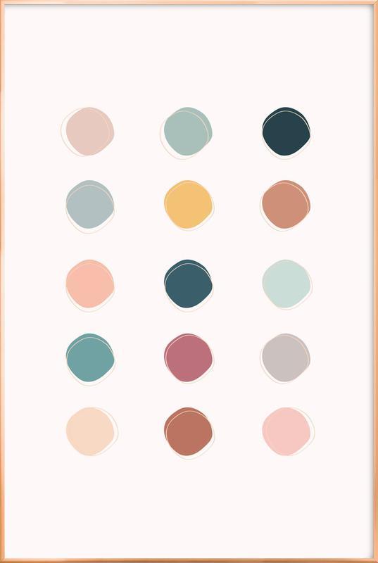 Colour Palette -Poster im Alurahmen