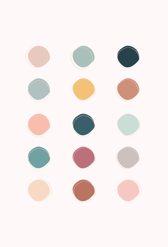 Colour Palette -Acrylglasbild