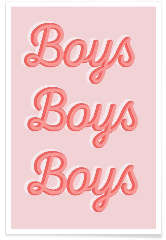 Zitate & Slogans, Boys Boys Boys -Poster