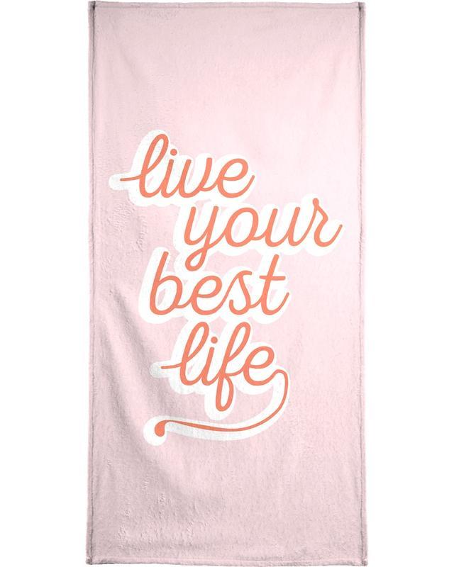 Quotes en slogans, Motivatie, Live your Best Life strandlaken