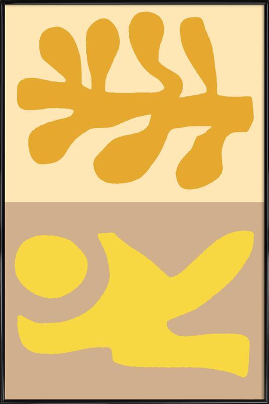 Golden Hair -Bild mit Kunststoffrahmen