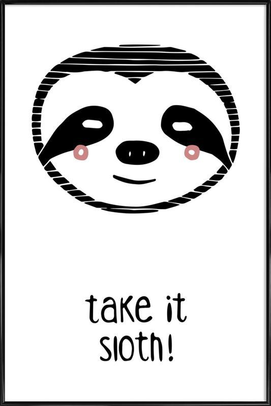Take it Sloth! ingelijste poster