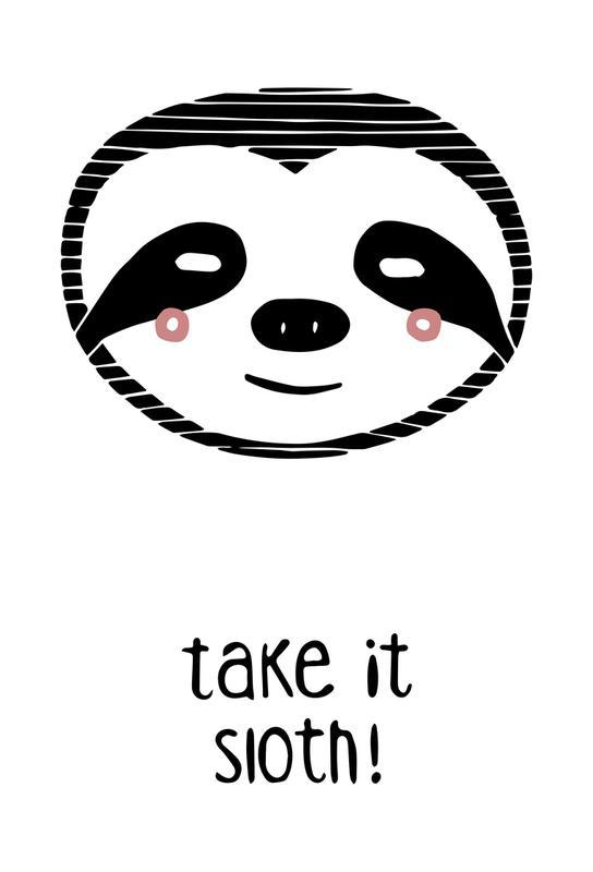 Take it Sloth! acrylglas print