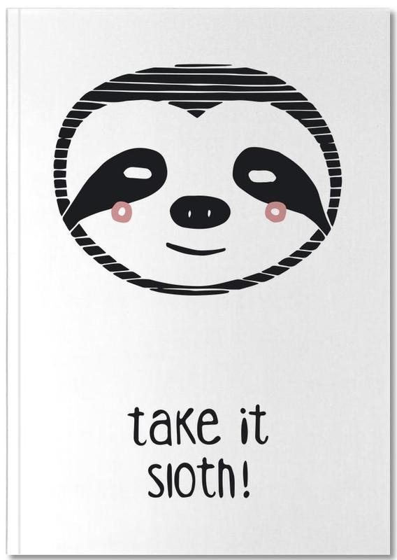 Paresseux, Noir & blanc, Art pour enfants, Take it Sloth! Notebook