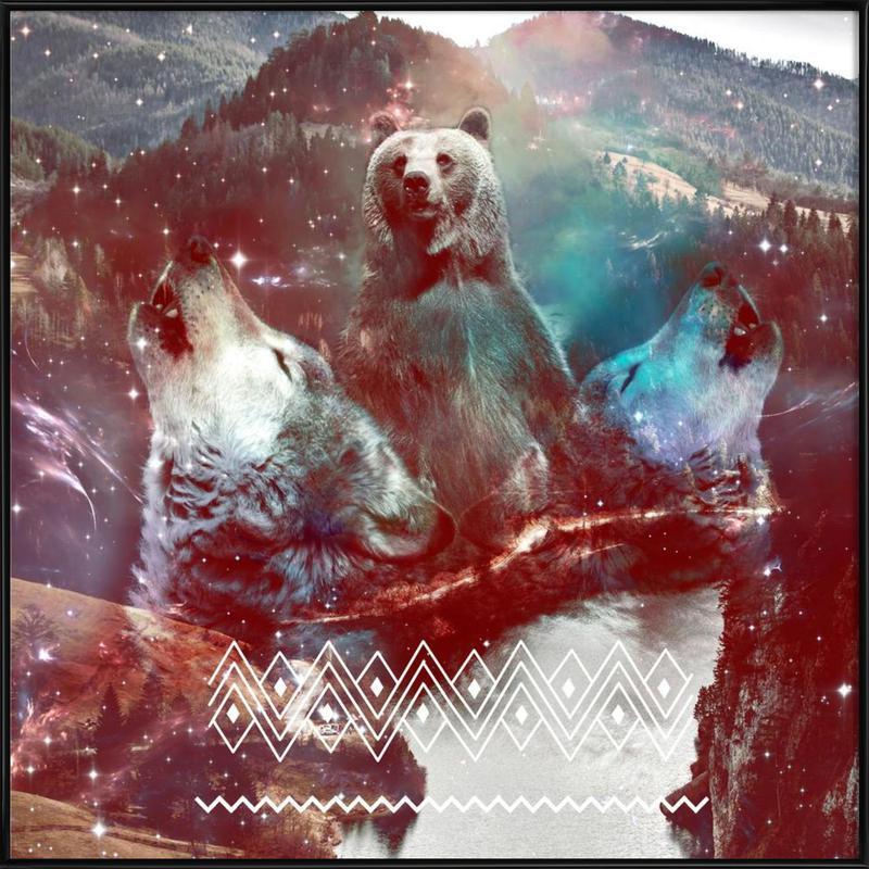 Bear in the Woods Framed Poster