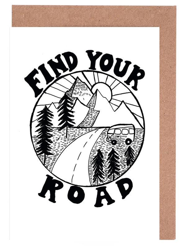 Noir & blanc, Motivation, Voyages, Find Your Road cartes de vœux