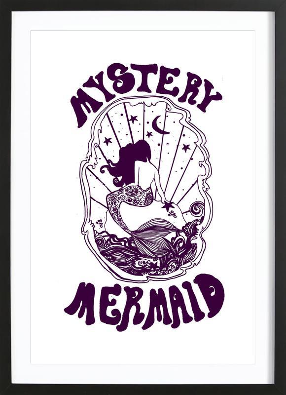 Mystery Mermaid -Bild mit Holzrahmen