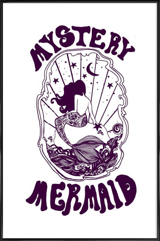 Mystery Mermaid -Bild mit Kunststoffrahmen