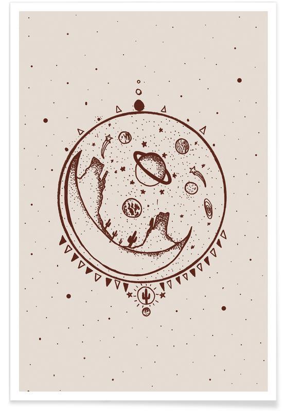 Moon, Desert Moon Shelter Poster