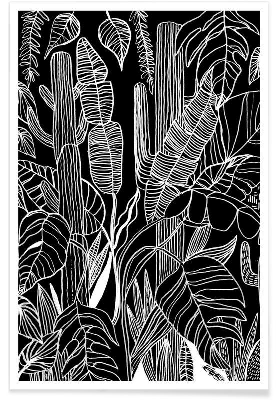 Noir & blanc, Motifs, Home Is Where My Plants Are affiche